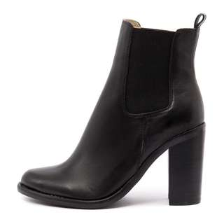 Tony Bianco Black Leather Reggie Boots