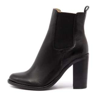 Tony Bianco Black Leather Reggie Boots