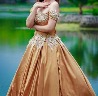Gold Ball Gown (Prenup, Party, Debut) Large size