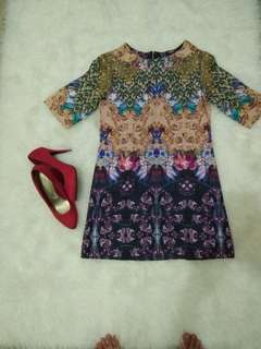 Dress brukat tebal