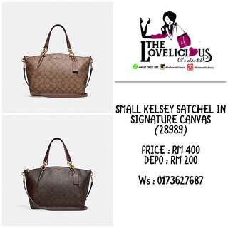 SMALL KELSEY SATCHEL IN SIGNATURE CANVAS COACH F28989