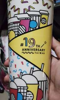 Tumbler Starbucks Limited Edition Taiwan Anniversary Grande Size