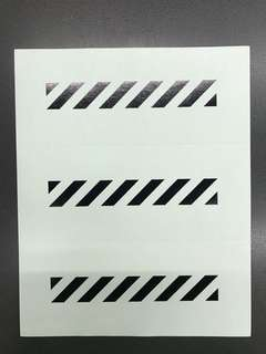 OFFWHITE STICKERS 貼紙(包郵)