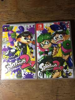 Nintendo Switch Splatoon 2 multi slot cart case