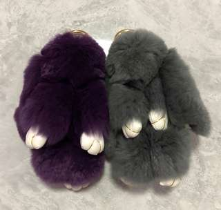 Fluffy Rabbit Keychain(2 for 13$)