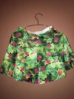 Bershka leaf skirt