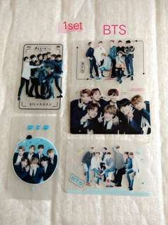 BTS Transparent card