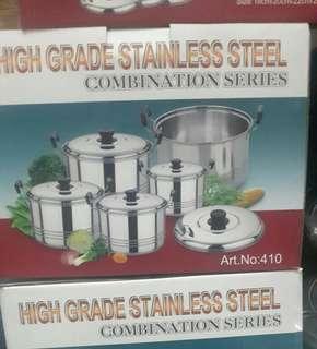 Panci set high grade stainlees steel