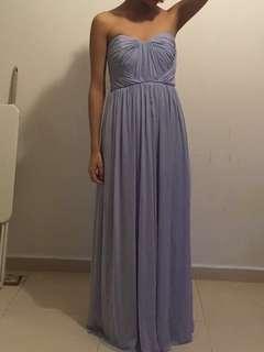 Bridesmaid dress/ light blue/grey formal dress