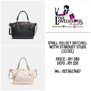 SMALL KELSEY SATCHEL WITH STARDUST STUDS COACH F22312