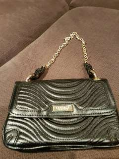 Versace black bag with chain