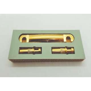 Gotoh Tune-o-matic Titanium Bridge + Gotoh Zinc 'Stop' Tailpiece - Gold
