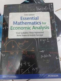 Fifth edition - Essential Mathematics for Economic Analysis