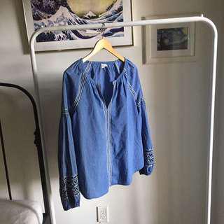 Gap summer shirt / blouse with slavic prints