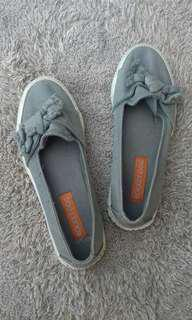 Gray Slip ons