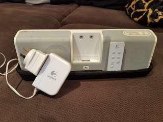 Logitec ipod speakers