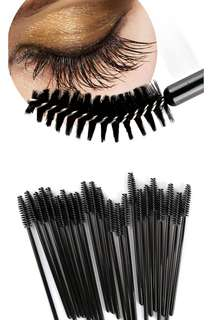 50pcs Eyelash Brushes Disposable Mascara One-Off Makeup Applicator Eye Lash Makeup Tools Eyelash Brush Mini