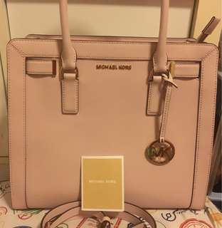 Michael Kors - Pink Mercer Leather Bag - Crossbody strap included