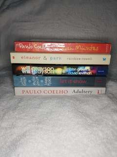 Books for 120php EACH