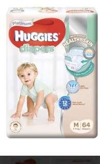 BN Huggies Platinum Diapers M