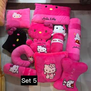 HELLO KITTY PLUSH PILLOWS SET