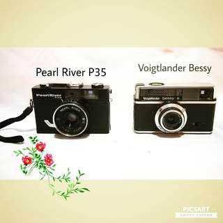 Vintage Cameras Pearl River P35 and Voigtlander Bessy. Clearance offer, both for $38 only. Non-working Display Condition. Sms 96337309.