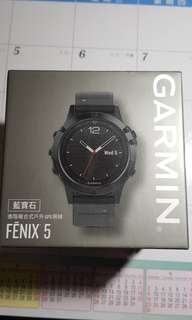 🚚 GARMIN FENIX 5藍寶石複合式戶外GPS手錶