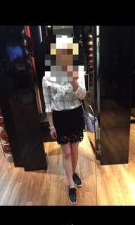 🚚 雕花蕾絲窄裙及膝裙