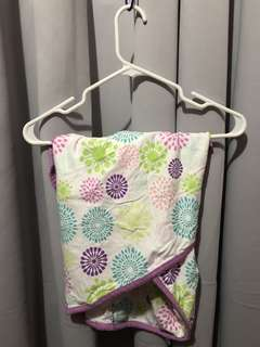 Miracle Blanket Swaddle (Colorful Bursts with Purple Trim)