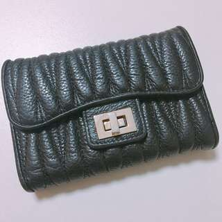 UNION 90%new real Leather Wallet【miu miu style】