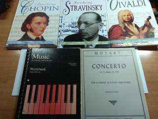 A Lot of Books for Music Lovers,  total 5pcs