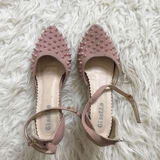 Studd Suede Pink Heels