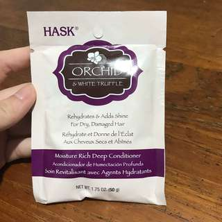 Hask Orchid & White Truffle Rehydrates & Add Shine For Dry, Damaged Hair Moisture Rich Deep Conditioner 50g