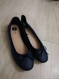 Doll Shoes Navy Blue Flats