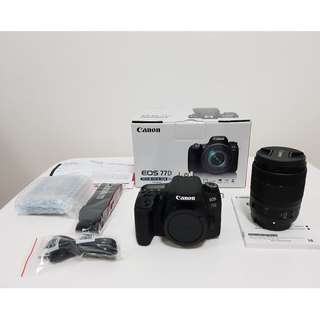 (NEW) Canon EOS 77D Kit (lens EF-S18-135 IS USM)