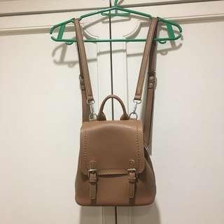 Brown mini backpack