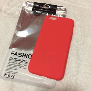 🌸BRANDNEW🌸 Iphone 6 Iphone 6s Candy Color Red Matte Soft Rubber Case