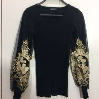 Embroidery Knit Gold Premium