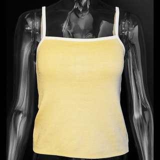 🚚 義大利品牌LIFELIKE LINDARICO鵝黃色針織內搭背心 義大利製