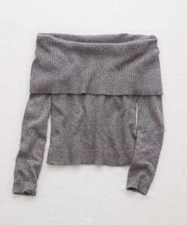 NEW! Grey Off The Shoulder Sweater