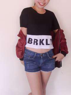 Brklyn black & white top