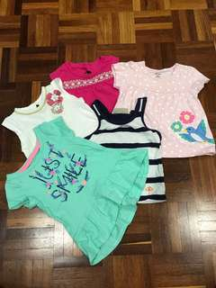 5pcs carters oshkosh 6/9 mths