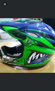 Zebra fullface helmet