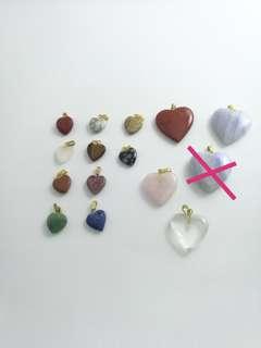 🚚 Heart Shape Semi Precious Stone Pendant