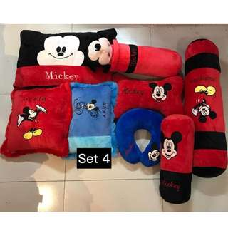 MICKEY MOUSE PLUSH PILLOWS SET
