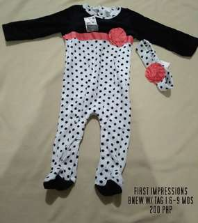 Baby overall w/turband  6-9mos