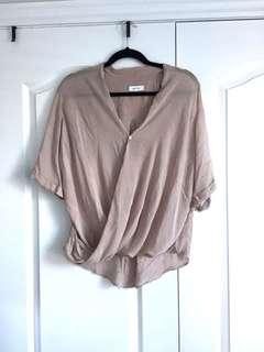 Babaton Blush Short Sleeve Blouse