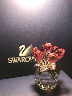Swarovski 擺設 crystal flower 施華洛世奇水晶