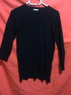korean knitted long blouse