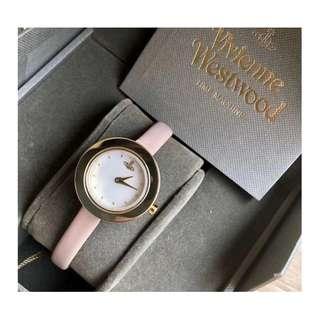 英國潮牌 Vivienne Westwood Watch 真皮錶帶 土星 女士 手錶 腕錶 27mm (WT02)